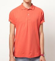 American Apparel Piece Dye Pique Polo Tennis Golf Shirt Watermelon Coral X-large