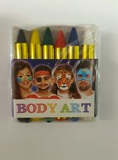 New six Face Body Paint Neon Colour Crayons Party Make Dress up Sticks Wedding