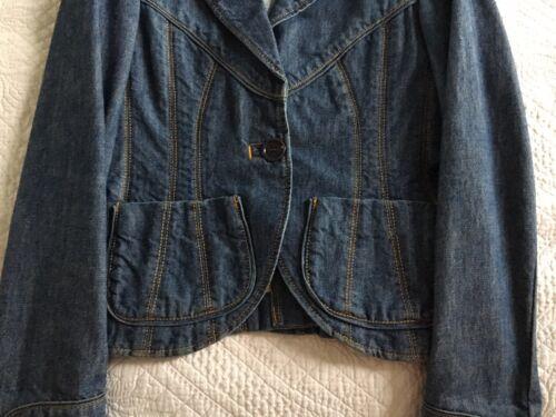 Marc Size2 Jacobs Blazer Meget Denim 6 Pretty UK Kvinders 5BnY4w