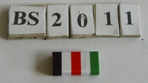 bs2011 Bandspange Modell 57  Deutsch-Italienische Afrika Medaille 25mm