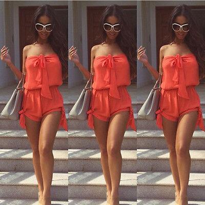 UK Summer Women Celeb Sexy Mini Playsuit Ladies Jumpsuit Shorts Beach Sun Dress