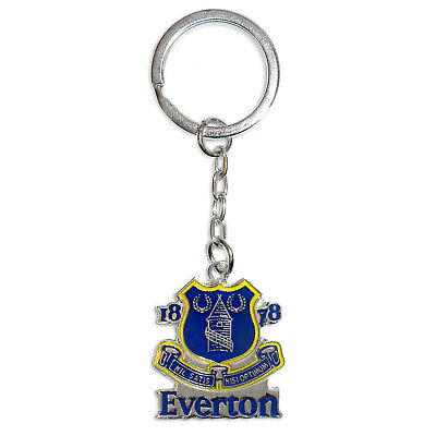 Footie Gifts Metal Crest Keyring Everton F.C