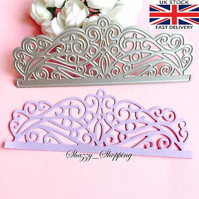 lace swirls edge border 3 Piece die set metal cutting die cutter UK Fast Post