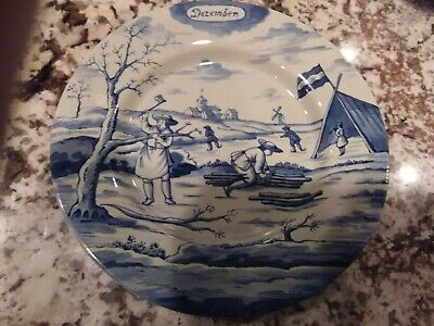 Pottery & Glass Metropolitan Museum Of Art Delft Holland December Months Of Year 9'' Plate