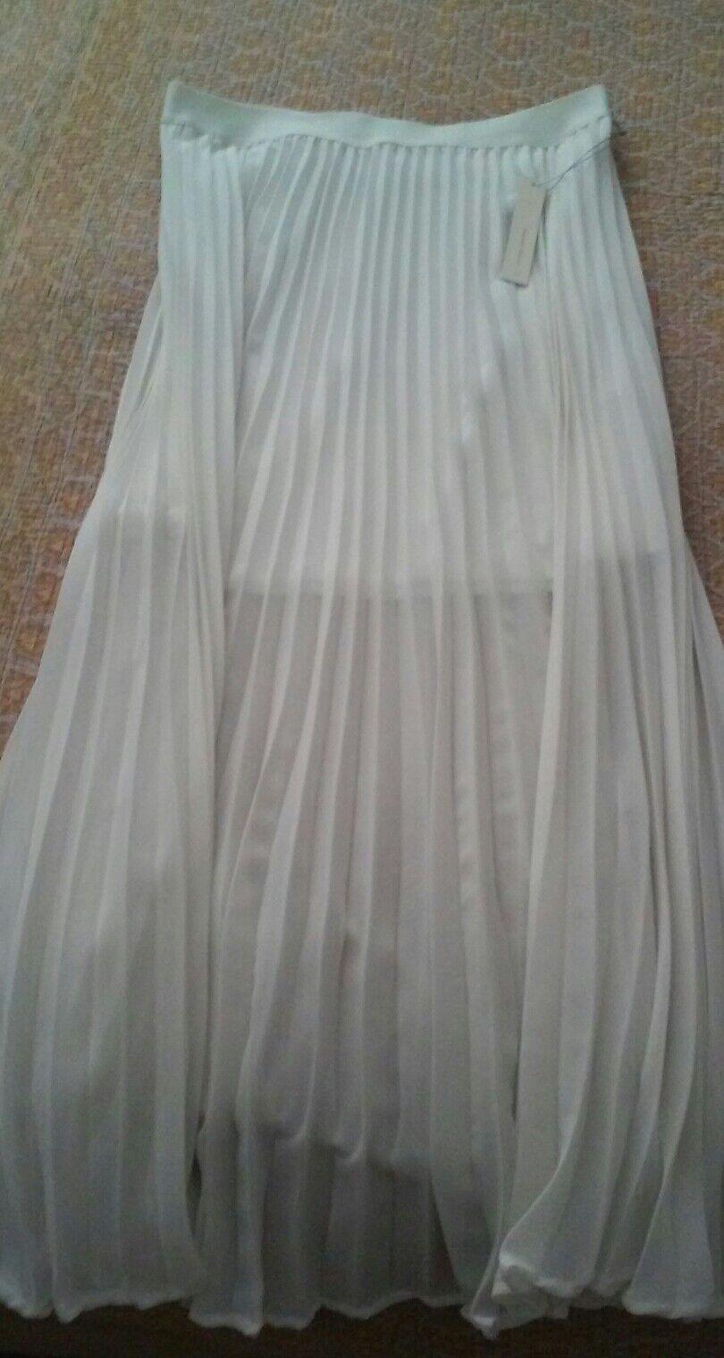 LAUREN CONRAD white garden blooms Collection Skirt S NEW
