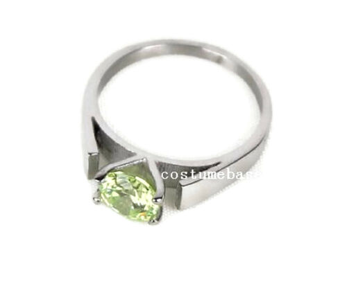GREEN PERIDOT RING Once Upon a Time snow white Stainless Steel