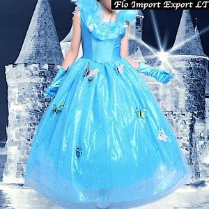 Caricamento dell immagine in corso Cenerentola-Abito-Carnevale-Dress-up- Princess-Cinderella-Girl- 0bfc60095b4b