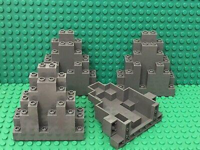 part #6083 LURP Lego 4 New Dark Bluish Gray Rock Panel 3x8x7 Triangular