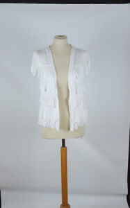 Sommer-Shirt-Jacke-Creme-Taupe-XS-S-M-Viskose-Shirtjacke-offen-zu-tragen-neu