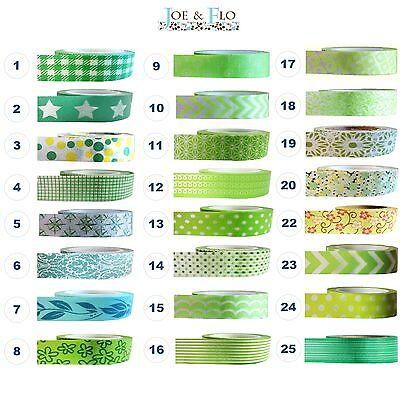 Washi Tape Masking Tape Gift and Craft Tape - GREEN