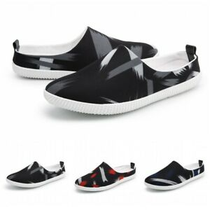 Summer-Mens-Slip-On-Breathable-Mesh-Fabric-Slippers-Shoes-Casual-Mules-Loafers-B