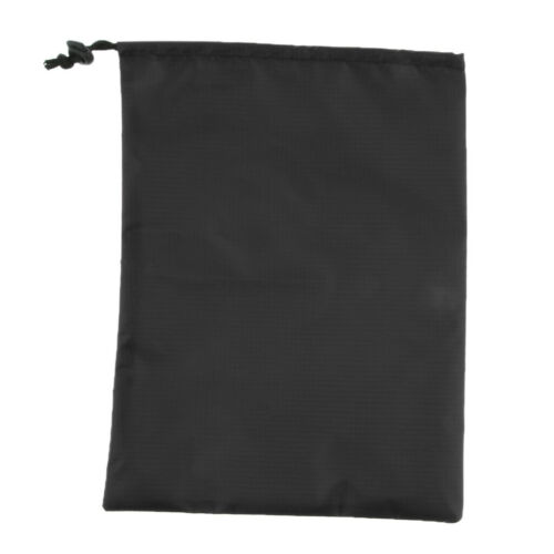 Outdoor Waterproof Drawstring Storage Stuff Sack for Clothes Shoes Black