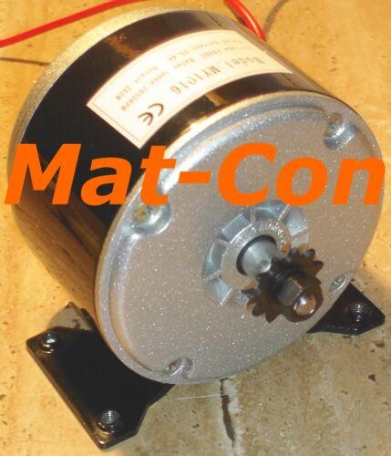 DC E Motor MY1016 280W 24V DC 0,97Nm 2750U/min, mit Fuß, 1/4 Ritzel/Riemenwalze