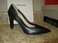 Costume National Pointy Pump (euro 38 = U.s. 7.5 M) Black Leather With Box