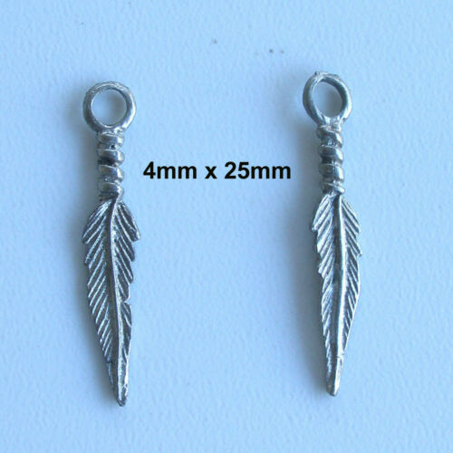 Feather Charms Silver High Quality Various Styles /& Sizes