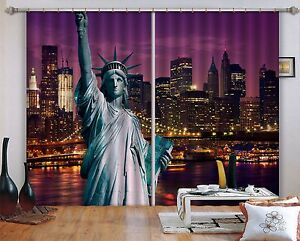 3d new york city 5 blockout photo curtain print curtains drapes