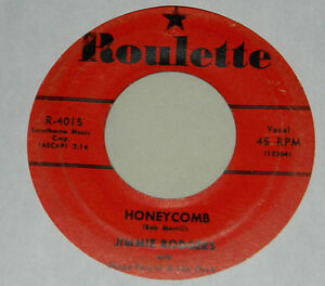 Jimmie Rodgers on Roulette Label / 45 rpm / Honeycomb /