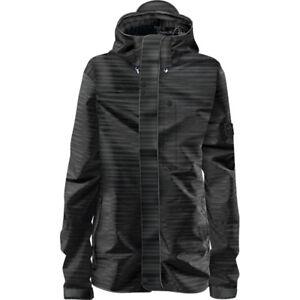 adidas Originals Slub Stripe Snow Jacket Snowboardjacke für Damen Schwarz