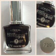 3 PZ SMALTO UNGHIE L'OREAL RESIST SHINE 720 BLACK ONYX NERO NOIR DURATA