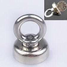 Strong N52 Neodymium Eyebolt Circular Rings Magnet 25 x 52 mm For Salvage