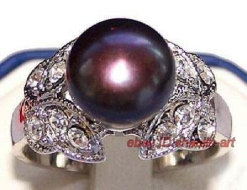 noir coquillage perle cristal Bagues