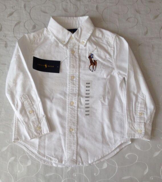 f493e41b6 Ralph Lauren Boys White Big Pony Shirt 3y (100cm) Cotton Oxford '3 ...