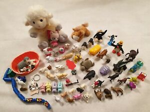 FASCIO di Figure Animali Giocattolo Peluche Hello Kitty Sweep Pingu Gatti Cani Coniglio Anatra