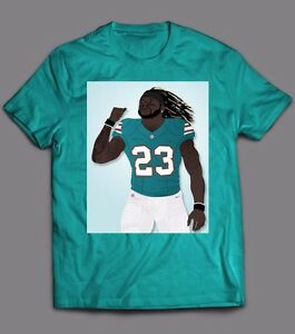 best service 4025a cf9c9 Details about JAY AJAYI #23 MIAMI DOLPHINS **OLDSKOOL RARE CUSTOM ART**  QUALITY SHIRT OPTIONS