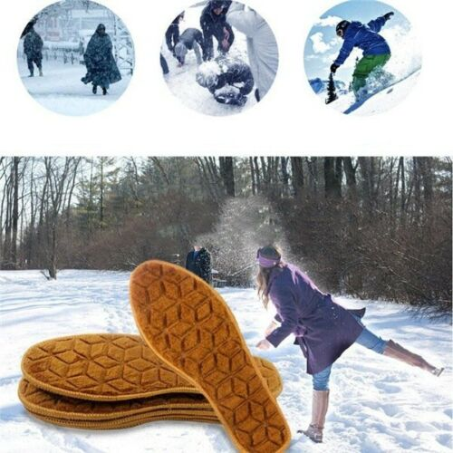 1 Pair Winter Thick Soft Warm Plush Breathable Insoles Unisex Wool Felt Insole