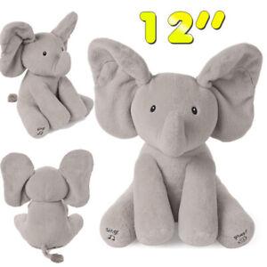 "Baby GUND Animated Flappy Baby Toy Plush, Gray, 12"" The Elephant Stuffed Animal"