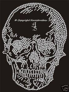 """Strass Bügelbild Totenkopf Skull /""""Neues Design/"""""""