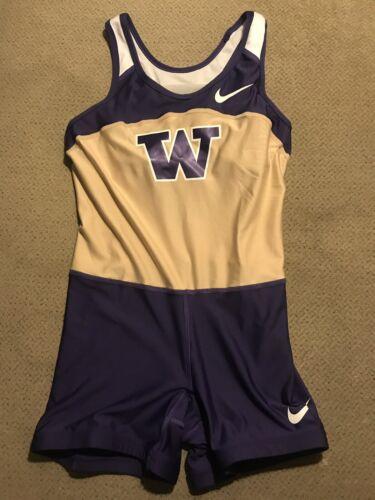 Womens Nike Pro Elite Washington Huskies Track Uni