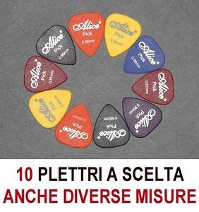 10-PLETTRI-A-SCELTA-CHITARRA-BASSO-ALICE-MISURE-0-58-0-71-0-81-0-96-1-20-1-50-mm