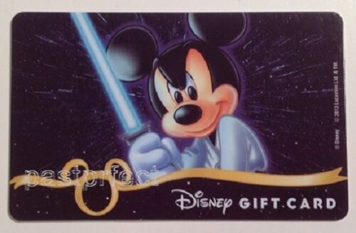 Disney HTF Star Wars Gift Card Jedi Mickey Mouse Collectible *No Cash Value*