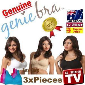 027eb565dc03c 3 x GENUINE Genie Bra - Seamless Bra set with Pads S M L XL XXL XXXL ...