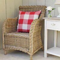 Grey Wash Rattan Wicker Armchair Conservatory Furniture Wicker Chair