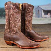Tony Lama Women's Americana Tan Navajo Brown Leather Western Boots 7908l