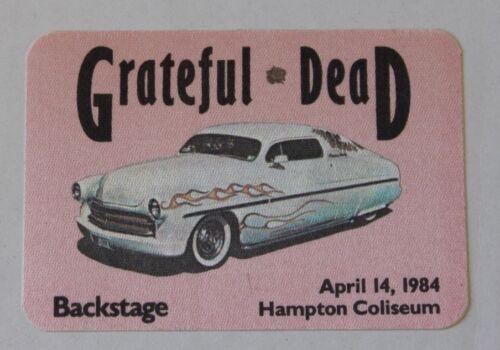 Grateful Dead Backstage Pass 4-14-84 Hampton Coliseum