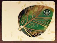 HTF Starbucks 2015 Mini Leaf Gift Card NO $ VALUE