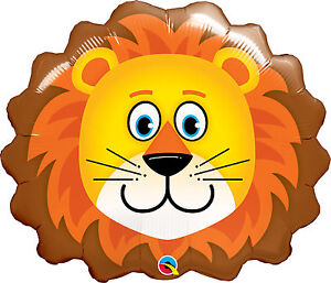 LION-BALLOON-29-034-LARGE-LOVEABLE-LION-HEAD-JUNGLE-PARTY-SUPPLIES-QUALATEX-BALLOON