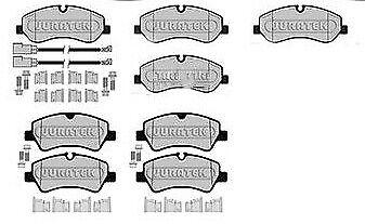 FORD TRANSIT MK8 2.2 TDCI BRAKE PADS FRONT AND REAR 2013 SINGLE WHEEL