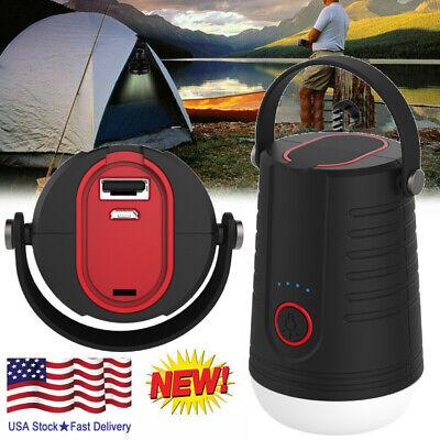 280W Solar LED Camping Light Tent Lamp USB Rechargeable Bulb Lantern Flashlight=