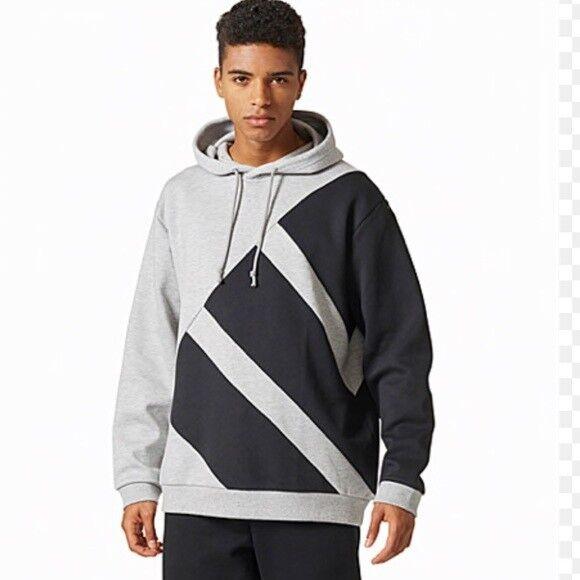 newest collection 2e13c 15def Adidas Originals Mens Size L EQT Hoodie Sweater Grey Black
