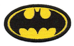 Patch Ricamo Toppa Batman Film Stemma Logo Simbolo Pipistrello Ebay