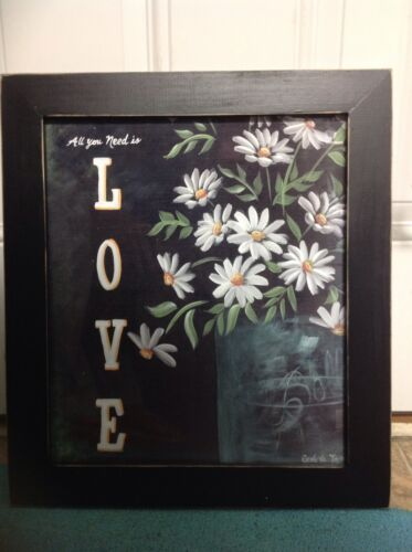 All You Need Is Love Sign DAISY mason jar art home decor wedding gift hanging
