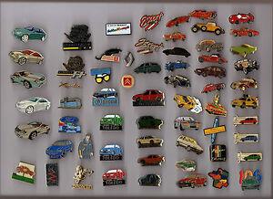 Lot-de-60-pin-039-s-theme-voiture-porsche-renault-skoda-peugeot-mustang