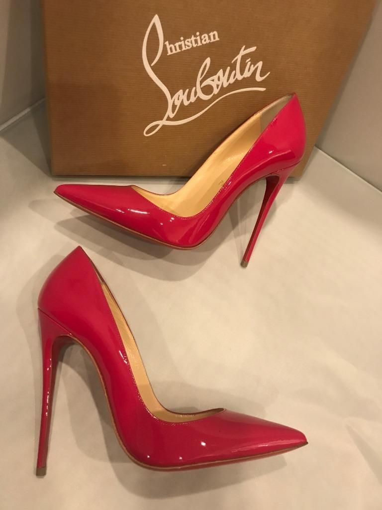 Christian Louboutin SO KATE 120 Patent Stiletto Heel Pumps Shoes Rosa Pink