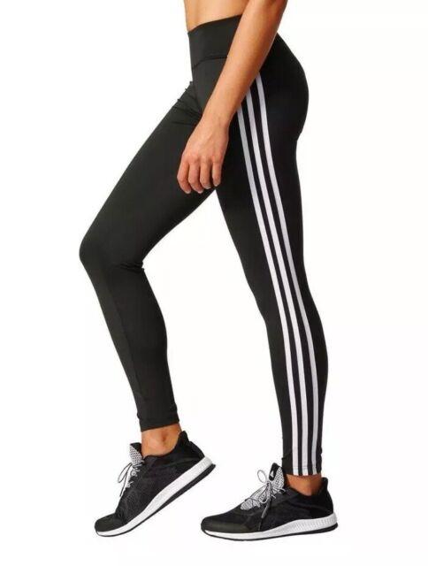 6f86a907e34 $50 Adidas Training 3-Stripe Leggings Women's Sz SMALL Black/White NWT  BQ2072