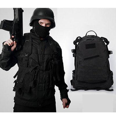 Military Waterproof Nylon Backpack Rucksack School Satchel Camping Hiking Bag BK