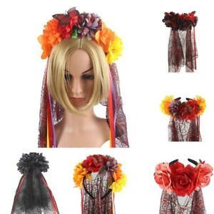 1-stueck-Kopfschmuck-Dead-Flower-Crown-Halloween-Stirnband-Maedchen-Party-I6T6